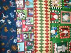 Clearance CHRISTMAS #8 Fabrics,Sold Individually,Not As a Group,By The Half Yard