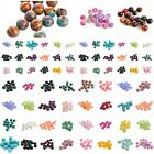 Lots Natural  Assorted Stones Smooth Gemstone Round Spacer Loose Beads4/6/8/10mm