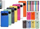 View Front Window Flip Case Transparent Cover for Apple iPhone 5C + Stylus +Film