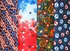 PATRIOTIC #4 Fabrics, Sold Individually, Not As a Group, By The Half Yard