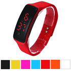 Fashion Boy Girl Red Silicone Digital LED Date Sports Casual Wrist Watch Men NEW
