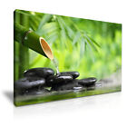 ZEN Bamboo Stones Spa Relax Abstract Canvas Wall Art Picture Print ~ More Size