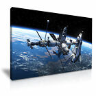 NASA Space Shuttle and Space Station Canvas Wall Art Picture Print  ~ More Size