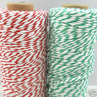 PER 3 METRES  bakers twine - green/white  red/white 3mm thick Berisfords