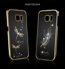 KINGXBAR Dragonfly Swarovski Crystal Cell Phone Case For Samsung Galaxy S6 Edge