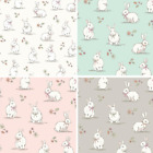 Lifestyle Woodland Bunnies Rabbits Wildlife 100% Cotton Fabric 140cm Wide