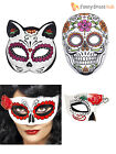 Mexican Day Of The Dead Masks Halloween Fancy Dress Costume Accessory Adult