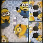 MINIONS  custom Light Switch, outlets and wall plate covers kids room decor grey