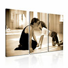 Dirty Dance Movie Sepia Canvas Abstract Wall Art Picture Print ~ 3 Panels