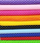 "Polka Dot Fabric 100% Cotton 55"" Wide Sold BTY Small Dots Sewing Quilting"