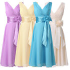 2015 Sexy Women Short Chiffon Prom Wedding Party Formal Evening Bridesmaid Dress