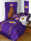 Los Angeles Lakers Comforter Sham and Sheet Set Twin Full Queen King Size