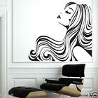 """Flowing Hair "" Removable wall stickers Vinyl decal for home or Beauty Salon"