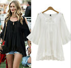 PLUS SIZE Women Summer Loose Short Sleeve Casual Shirt Tops Blouse L-4XL