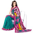 Pretty Colorful Printed Casual Wear Faux Georgette Saree