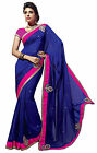 Wonderful Lace Bordered Faux Georgette Saree