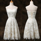Wedding Bridesmaid Cocktail Formal Party Prom Ball Evening Lace Short Mini Dress