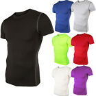 Mens Sports Athletic Top Compression Shirt Cycling Gym Wear Short Sleeve T-Shirt