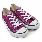 Converse Junior Seasonal Ox Canvas Lace Up Trainer Pink Sapphire