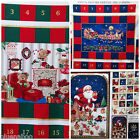 CHRISTMAS advent calendar panels 100 % cotton - easy to make  3 designs