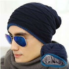2015 Men New Winter Fashion Wool Hat And Velvet Hat Solid Color Knit Cap US04