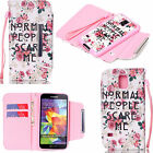 Cute 2 in 1 Pattern Leather Wallet Case Cover For Samsung Galaxy S6 S5 Note 4 3