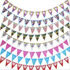 6 Styles New Banner Bunting Pennant Flags Party Birthday Wedding Decoration - LD