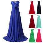 FREE SHIP Bridesmaid Formal Evening Wedding Pageant Party Prom Ball Gown Dress