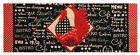 Bistro Country Rooster Table Runner Indoor Or Outdoor Fabric  Climaweave Red