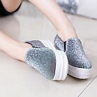 Korean Platform Creeper College Shoes Womens Round Toe Comfort Loafers Shoes ES
