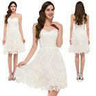 Short Lace Prom Cocktail Party Evening Dresses Bridesmaid Wedding Short Dress