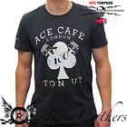 GUY MARTIN RED TORPEDO ACE CAFE TON UP BK T-SHIRT MOTORCYCLE CASUAL WEAR
