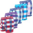 Mens Boxer Short Crosshatch Recheck Underwear Checked Designer Trunks Briefs