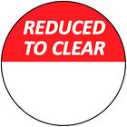 3 Sticky Labels 0mm Bright Red Reduced To Clear Stickers Swing Tag Labels