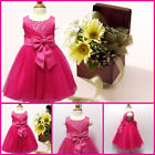 KIDS Infant Baby Communion Wedding Party Flower Girls Dresses AGE SZ 0 to 18 Mth