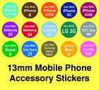 Samsung Mobile Phone Accessory Stickers - Removable Adhesive 'Use With' Labels