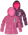 Girls Official Disney Minnie Mouse Hooded Long Line Puffa Jacket New Ages 3-8