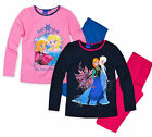 Girls Official Disney Princess Frozen Pyjamas New Kids Long Sleeved PJ Set 4-8
