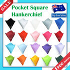 Mens Hanky Satin Korean Silk Pocket Square Handkerchief for Wedding Groom Party