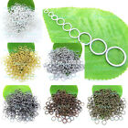 100pcs 3mm - 20mm Open Jump Rings Split Findings Jewelry Making Craft Round Oval