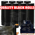 1 6 12 18 24 x  QUALITY STRONG BLACK PALLET STRETCH WRAP SHRINK 250m 300  400mm