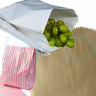 Brown White Kraft Paper Bags & Pink/White Blue/White Candy Sweet Bags 5x7