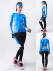 Women Bike Bicycle Cycling Long Sleeve Lined Clothes Jersey Padded Pants Suit