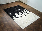 NEW COWHIDE PATCHWORK RUG LEATHER CARPET cu_440
