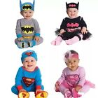 New Baby Boys Girls Long Sleeves superhero Costume Jumpsuit + Matching Hat 0-18M