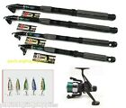 Oxygen Carbon Telescopic Holiday  Sea Fishing Rod & Reel +  Lures Set