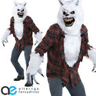 WHITE LYCAN WEREWOLF ANI-MOTION HALLOWEEN ADULT MENS FANCY DRESS COSTUME & MASK