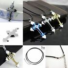 Fashion Unisex's Stainless Steel Cross Necklace Pendant Gold/Silver/Blue/Pink