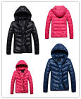 HOT SALE Ladies Slim Down Coat Women's Casual Sport Hooded Warm Jacket UK EW