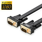 High End 15 PIN SVGA VGA ADAPTER Monitor Male To Male FLAT Cable CORD FOR PC TV